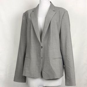 Ann Taylor Light Gray Wool Blend Blazer